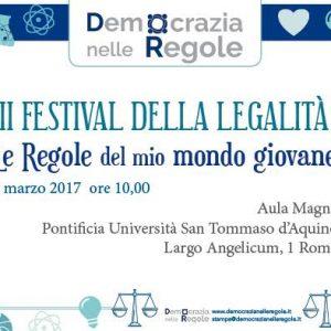 3° Festival della Legalità – Le Regole del Mio Mondo Giovane