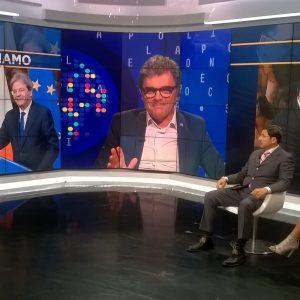 Giulio Bacosi in diretta a RaiNews24 per parlare di migranti e ong